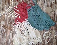 PROMO Crochet halter top Bikini  Crochet top  Crochet Lace