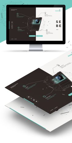 Pined by Bogdan-Addroid on Behance Website Design Layout, Web Layout, Dark Websites, Brochure Design, Branding Design, Tech Background, Graph Design, Geometric Logo, Ui Web
