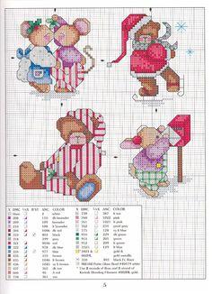 Cross-stitch Christmas Mice, part 5