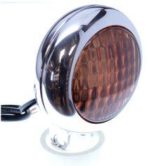 Chopper Bobber Headlight 3 LED Custom Billet Machined by Speed Dealer