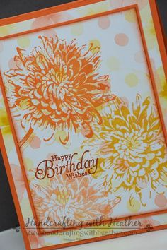 Heather's beautiful combo of Blooming with Kindness and Watercolor Wonder dsp! All supplies from Stampin' Up! Love this color combo Birthday Wishes Cards, Birthday Cards For Women, Card Birthday, Stamping Up Cards, Rubber Stamping, Hand Stamped Cards, Ppr, Flower Cards, Flower Stamp