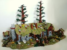 The house of Beorn from the Hobbit built by Roanoke Handybuck. Lego Knights, Lego Army, Amazing Lego Creations, Lego Castle, Lego Worlds, Lego Design, Lego Architecture, Lego Models, Lego Projects