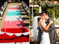 Colourful aisle runner
