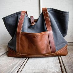 The Market Tote - Fine Leather & Waxed Canvas Bag Purse - Holtz Leather Waxed Canvas Bag, Canvas Purse, Canvas Leather, Canvas Tote Bags, Holtz Leather, Cute Crossbody Bags, Clutch Bags, Cheap Bags, Cheap Purses