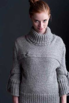 That's kind of chic. Sky sweater by Heather Keiser.