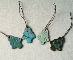 Handmade ceramic christmas ornaments