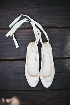 20 Adorable, dance-floor appropriate wedding shoes. - I would love a pair of these ballerina lace up ones.