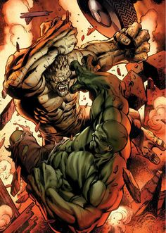 #Hulk #Fan #Art. (Hulk Vs Abomination) By: Mark Bagley. ÅWESOMENESS!!!™ ÅÅÅ+