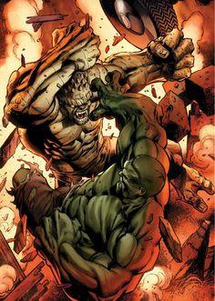 #Hulk #Fan #Art. (Hulk Vs Abomination) By: Mark Bagley. ÅWESOMENESS!!!™ ÅÅÅ+