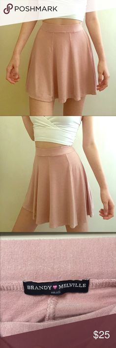 Brandy Melville Mauve Skirt Soft stretchy material 💜💞 fits XS/M no longer my style ✨😪 Brandy Melville Skirts