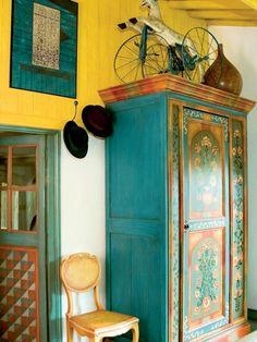 intérieur : meubles et porte peints, peinture décorative, Home & Garden