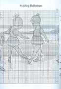 Schema punto croce Ballerine 3