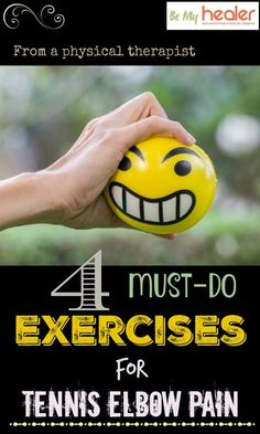 Learn about 4 simple and effective exercises for tennis elbow pain to promote faster recovery and prevent future flare ups. Tennis Elbow Relief, Tennis Elbow Symptoms, Tennis Elbow Exercises, Do Exercise, Excercise, Tennis Arm, Tennis Tips, Tendinitis Elbow, Elbow Pain