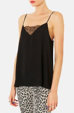 Topshop+'Pasha'+Lace+Inset+Camisole+(Regular+&+Petite)+available+at+#Nordstrom