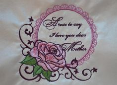 Mother's Day Card Embroidery Article