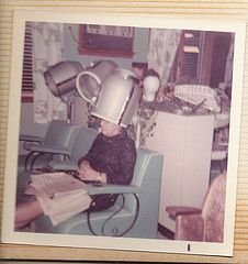 Look closely these were the days of ash trays on the arm rest of the hair dryer