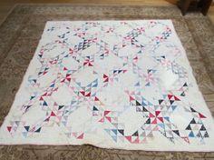 Vintage Handmade Rolling Star Quilt by PrairieVintageFinds on Etsy