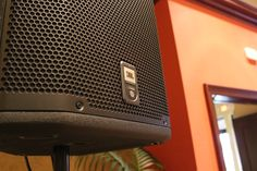 We use JBL PRX speakers.
