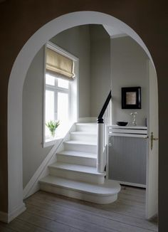 great interior stairs and doorway