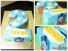 Thomas the Tank Engine Chocolate Moist Cake with Buttercream and Fondant decorations