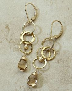 freshie and zero handmade jewelry - cartwheel earrings