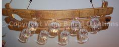 Висячие стекло стойки в стойку Фужеры Изготовлен из от winebarrelcreation