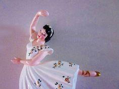 Vintage Ceramic Ballerina Wall Hanging Figurines Child Nursery Room Mid Century Decor Shabby French Cottage Beach Decor