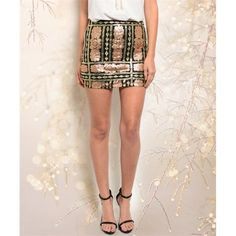 Arrives Friday Glam it up this holiday season in this bodycon mini skirt which features sequins detail all over and a zipper closure. 100% polyester. PLEASE DO NOT BUY THIS LISTING. Comment with size and I'll make you a new listing  Skirts Mini