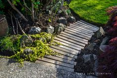 THIS WILL happen this summer - it just WILL!!!   pallet wood walkway for the garden Funky Junk Interiors