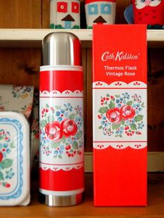 Vintage Rose Thermos Flask - too cute for words.