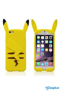 Pikachu Pokemon 3D iPhone Case [iPhone 5, 5s, 6, 6 Plus] - Shop our entire collection at www.getonfleek.com