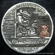 The Last Stogie 'Till Spokane' Grumpy Dick and Ginger Tom Hobo Nickel S.Hughes