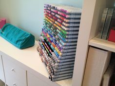 ikea expedit and copic marker storage