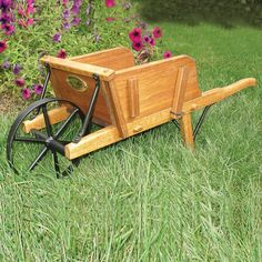 The antique white small wheelbarrow is individually crafted by Amish woodworkers in PA and is fully functional. This wheelbarrow makes a great accent lawn or garden ornament and has ample rooms for plants and flowers. Wheelbarrow Planter, Wood Animal, Garden Ornaments, Small Boxes, Small Gardens, Amish, Wooden Boxes, Wood Crafts, Woodworking Projects