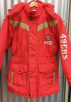 Women s 49ers Long Jacket XL  San Francisco Forty Niners NFL winter coat   Football Team Jacket  Women s XL coat with hood 24d09086cc