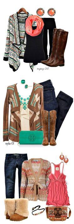 Aztec fashion    Fall fashion ideas    Click through for sources