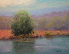 Country Pond - Original Pastel Painting by Paula Ford