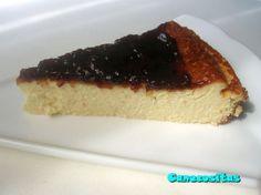 Tarta de queso sin base - Recetariocanecositas.com