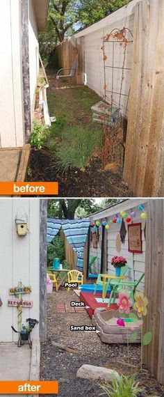 #4. Turn the narrow space along the side of the house into an outdoor playroom.