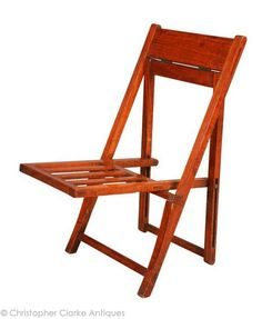 Satinwood Colonial Folding Chair - late 19th century. (Christopher Clarke Antiques)