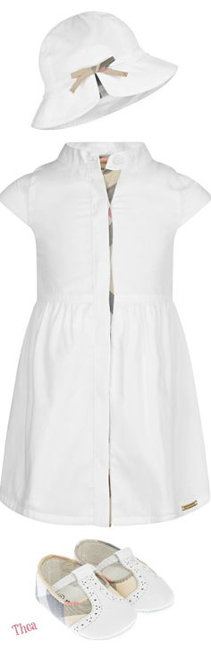 Burberry ○ Baby Girls White Cotton Sleeveless Dress Mode Fillette, Petite  Couture, Petites Filles 279b97c86b7