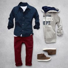 Boys' fashion   Kids' clothes   Button-down shirt   Full-zip hoodie   Chinos   Shoes   The Children's Place