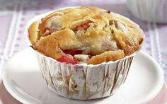 Rebarborové mafiny Scones, Apple Pie, Muffins, Cupcakes, Baking, Breakfast, Desserts, Tea, Food
