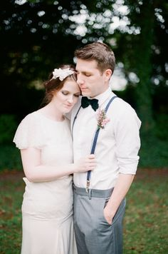 A Vintage Botanical Inspired First Year Anniversary Celebration, this is a real life married couple who were celebrating their 1st anniversary on the day of this shoot. She wears Belle & Bunty.  Styling by @Judith de Munck Clark Sparrow - wedding blog, photography by Michelle Boyd http://www.michelleboydphotography.com/