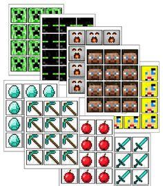 Minecraft DIY Printable Sticker & Party by DailyDigitalDesigns, $9.99