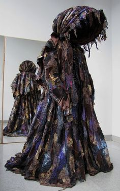 Transformation cape from Into the Woods Theater piece - of a Camouflage Calash! :) tdf costumes for musicals