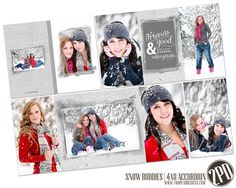 Snow Buddies 4 x 8 Accordion Book Template by Holly