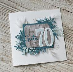 """Bettina Reisinger on Instagram: """"Geburtstagskarte zum 70er für die Mama mit den tollen Winterzweigen (und auch noch ein paar anderen)... #geburtstagsgruß #rundergeburtstsg…"""" Winter, Instagram, Home Decor, 70 Birthday, Branches, Cards, Winter Time, Decoration Home, Room Decor"""