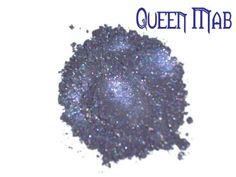 Queen Mab Blue Purple Loose Powder Mineral Eye by MadeByMandikins, $4.75