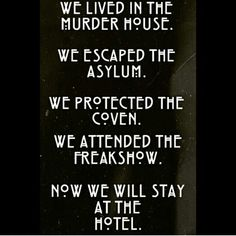 AHS #AmericanHorrorStory cant wait for season 5.